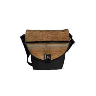 Rustic Wood Grain Boards Design Country Gifts Messenger Bags