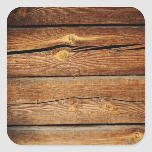 rustic wood grain boards design country gifts square