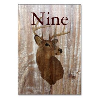 rustic wood grain deer the hunt is over wedding card