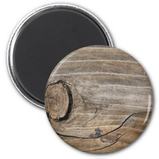 Rustic Wood Grain - Knotty 2 Inch Round Magnet