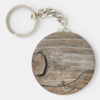 Rustic Wood Grain - Knotty Keychain