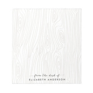 Rustic Wood Grain Personalized Notepad