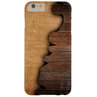 Rustic Wood Grain Splintered Wood Pattern Barely There iPhone 6 Plus Case