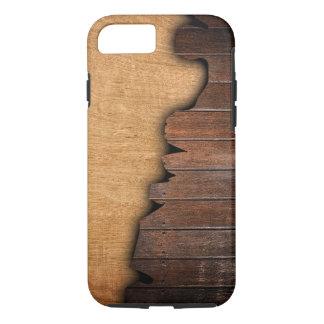 Rustic Wood Grain Splintered Wood Pattern iPhone 7 Case