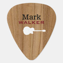rustic wood guitarist name cool guitar pick