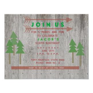 "Rustic Wood Invitation 4.25"" X 5.5"" Invitation Card"