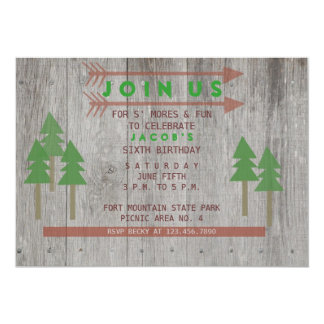 "Rustic Wood Invitation 5"" X 7"" Invitation Card"