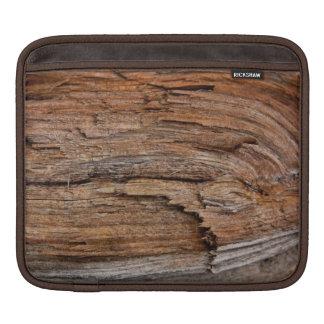 Rustic wood iPad sleeve
