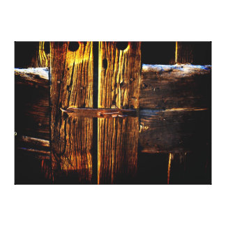 Rustic Wood & Iron Metal Latch Canvas Print