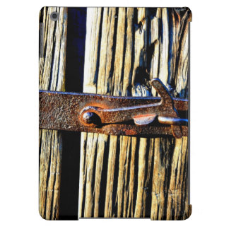 Rustic Wood & Iron Metal Latch iPad Air Cover