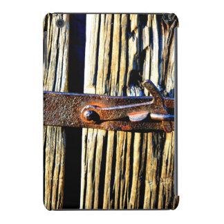 Rustic Wood & Iron Metal Latch iPad Mini Retina Covers