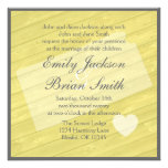 Rustic wood Kansas yellow wedding invitations