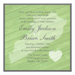 Rustic wood Kentucky green wedding invitations