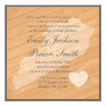 Rustic wood Kentucky orange wedding invitations