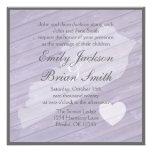 Rustic wood Kentucky purple wedding invitations