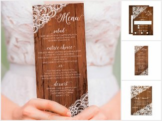 Rustic Wood & Lace