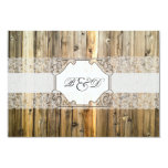 Rustic Wood Lace Elegant Wedding Invitation
