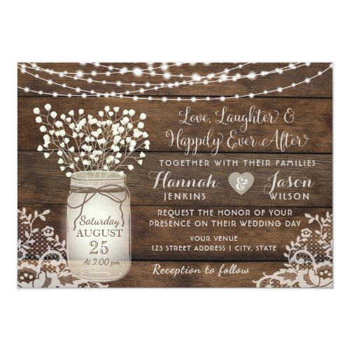Wedding Invitations Mason Jar: Rustic Wedding Inivitations