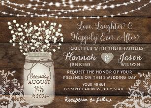mason jar wedding invitations zazzle