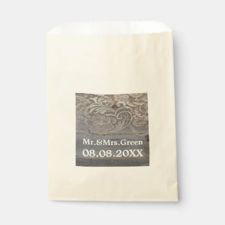 rustic wood lace western country wedding favor favor bag