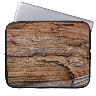 Rustic wood laptop sleeves