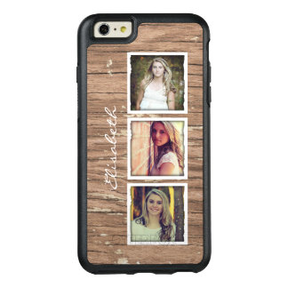 Rustic Wood Look Custom Instagram Photo Collage OtterBox iPhone 6/6s Plus Case