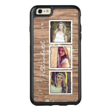 birthday Rustic Wood Look Custom Instagram Photo Collage OtterBox iPhone 6/6s Plus Case