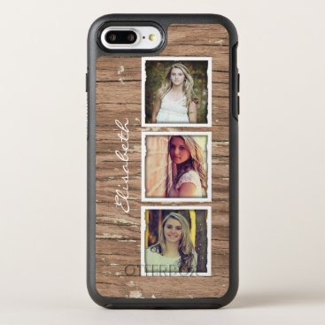 birthday Rustic Wood Look Instagram Photo Collage OtterBox Symmetry iPhone 7 Plus Case