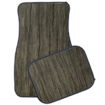 [ Thumbnail: Rustic Wood Look Pattern Car Mat ]