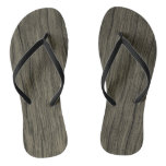 [ Thumbnail: Rustic Wood Look Pattern Flip Flops ]
