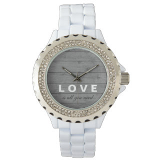 Rustic Wood Love Is All You Need Watch
