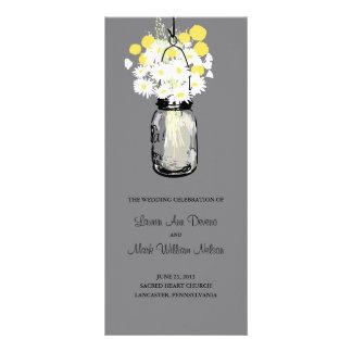 Rustic Wood Mason Jar and Wildflowers Program