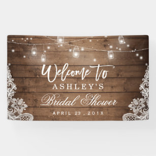 bridal shower banners signs zazzle