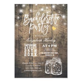 Rustic Wood & Mason Jar String Lights Bachelorette Invitation Zazzle_invitation2