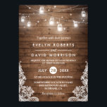 """Rustic Wood Mason Jars String Lights Lace Wedding Card<br><div class=""""desc"""">================= ABOUT THIS DESIGN ================= Rustic Wood Mason Jars String Lights Lace Wedding Invitation Template. (1) All text style, colors, sizes can be modified to fit your needs. (2) If you need any customization or matching items, please contact me. (In case you didn&#39;t get my response, please check the email...</div>"""