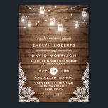 "Rustic Wood Mason Jars String Lights Lace Wedding Invitation<br><div class=""desc"">Rustic Wood Mason Jars String Lights Lace Wedding Invitation Template. (1) For further customization, please click the &quot;customize further&quot; link and use our design tool to modify this template. (2) If you prefer Thicker papers / Matte Finish, you may consider to choose the Matte Paper Type. (3) If you need...</div>"