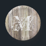 "Rustic Wood Monogrammed Paper Plates<br><div class=""desc"">Detailed photograph of weathered old boards on a dock. Shows wood grain, knots, and aging in these beautiful boards that have been exposed to sun, moisture and salt for many years. Add a custom monogram in a Lacy weathered look and you&#39;ve got rustic elegance of shabby chic for any cowgirl...</div>"