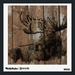 """Rustic wood moose wall cling decoration wall sticker<br><div class=""""desc"""">Rustic wood moose wall cling decoration</div>"""