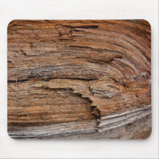 Rustic wood mouse pad