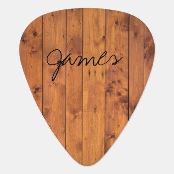 Rustic Wood Name Guitar Pick by rockandpicks at Zazzle