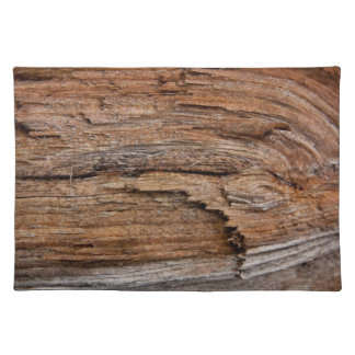 Rustic wood placemat