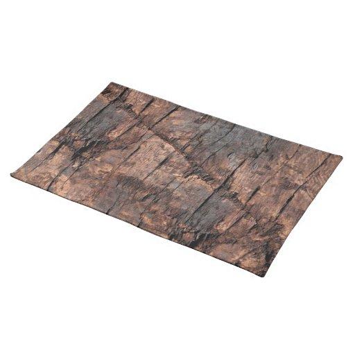 Rustic Wood Placemat Cloth Place Mat Zazzle
