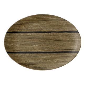 rustic wood planks 15216 porcelain serving platter