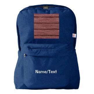 rustic wood planks 15216c american apparel™ backpack