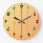Rustic Wood Planks Large Clock