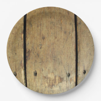 Rustic Wood Planks Paper Plate