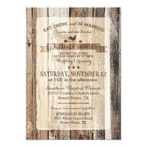 Rustic Wood Rooster Weather Vane Wedding Invitation