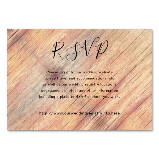 Rustic Wood RSVP Online Enclosure Cards