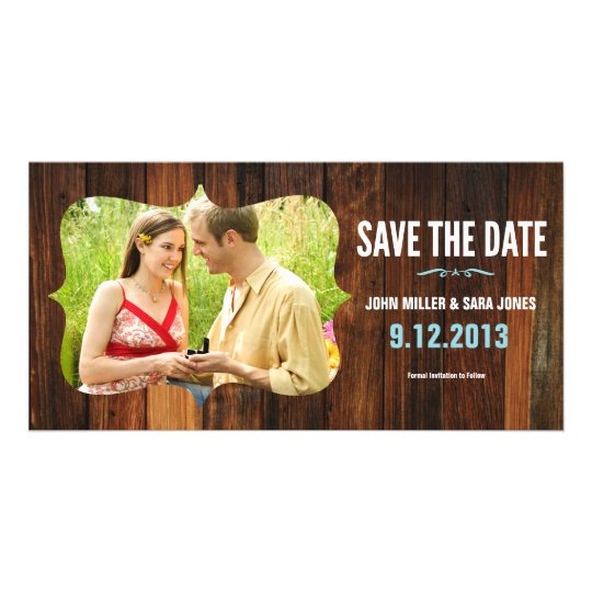 Rustic Wood Save The Date Card