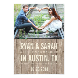 RUSTIC WOOD SAVE THE DATES CARD